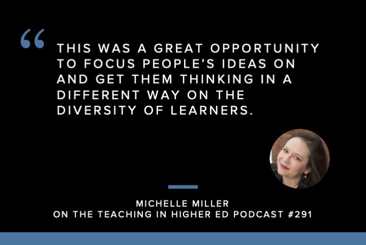 This was a great opportunity to focus people's ideas on and get them thinking in a different way on the diversity of learners.