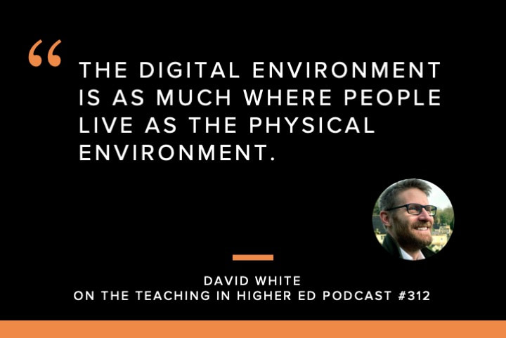 The digital environment is as much where people live as the physical environment