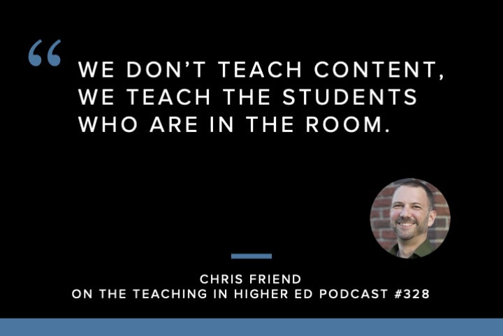 We don't teach content, we teach the students who are in the room.