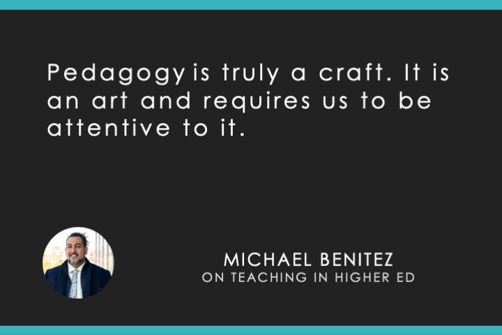 pedagogy is truly a craft. it is an art and requires us to be attentive to it.
