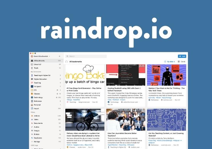 Raindrop.io screenshot