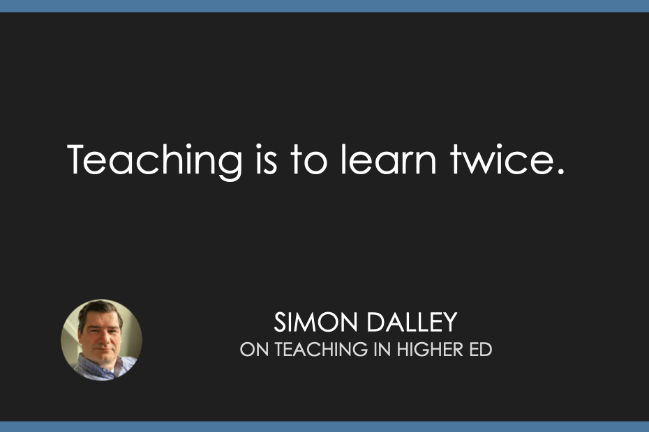 Teaching is to learn twice.