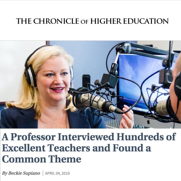 Bonni Stachowiak interviews hundreds of excellent teachers