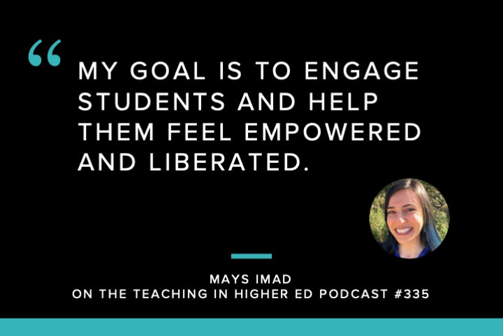 My goal is to engage students and help them feel empowered and liberated.