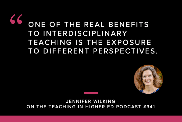 One of the real benefits to interdisciplinary teaching is this exposure to different perspectives.