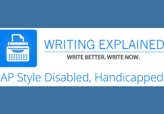 AP Style Disabled, Handicapped