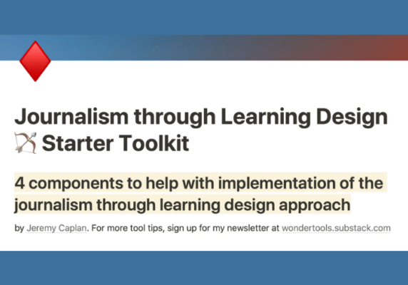 Journalism through Learning Design Starter Toolkit