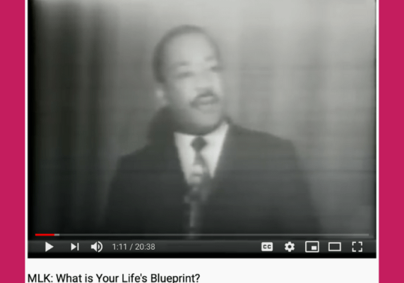 MLK: What's your life's blueprint?