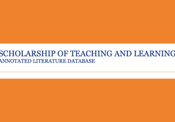 Peter Felten (@pfeltenNC) from the Center for Engaged Learning at Elon University shared on Twitter: Scholarship of Teaching and Learning Annotated Literature Database