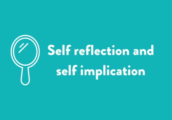 Self reflection and self implication