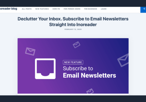 Subscribe to Newsletters in Inoreader