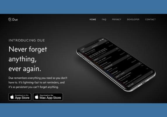 Website: Due App