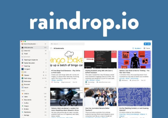 Raindrop.io screenshot
