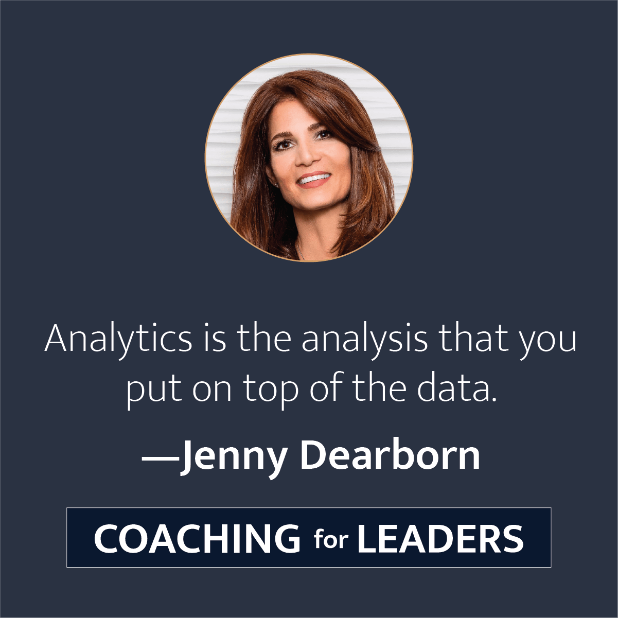 Analytics is the analysis that you put on top of the data.