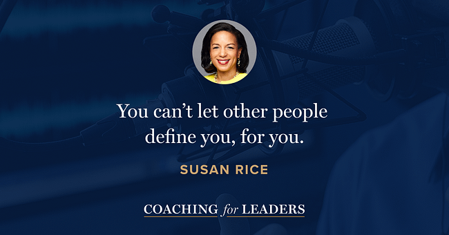 You can't let other people define you, for you.