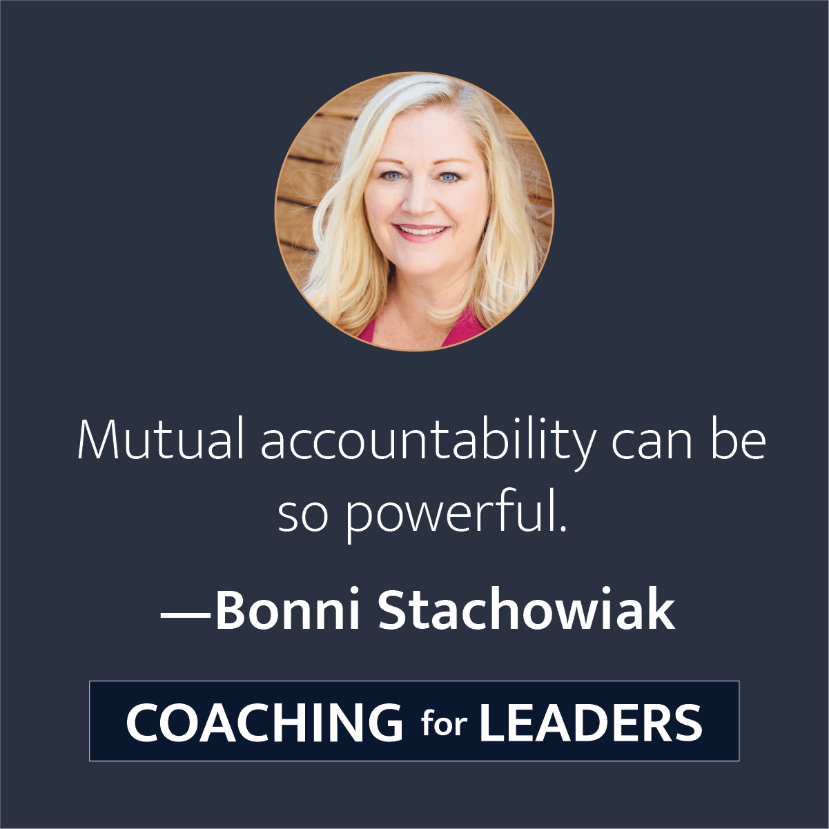 Mutual accountability can be so powerful.