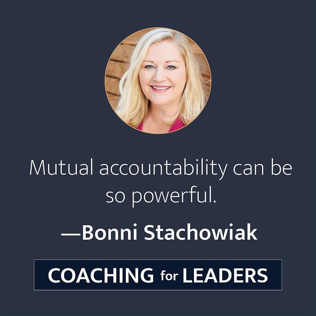 Mutual accountability can be so powerful.