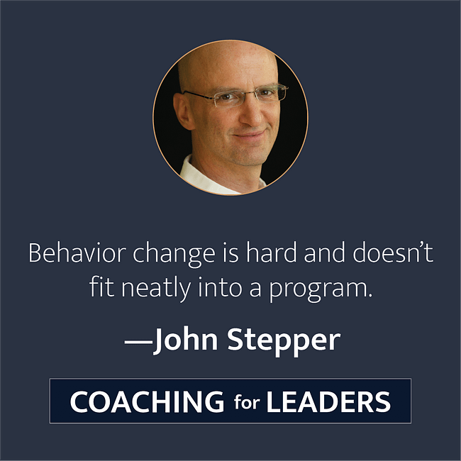 Behavior change is hard and doesn't fit neatly into a program.