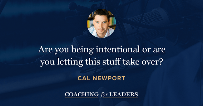 Are you being intentional or are you letting this stuff take over?