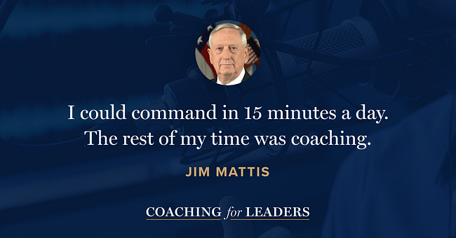I could command in 15 minutes a day. The rest of my time was coaching.