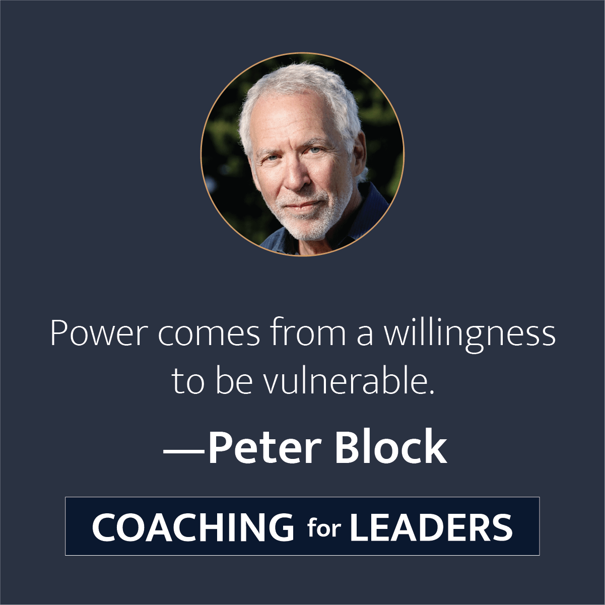 Power comes from a willingness to be vulnerable.