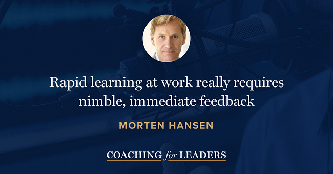 Rapid learning at work really requires nimble, immediate feedback