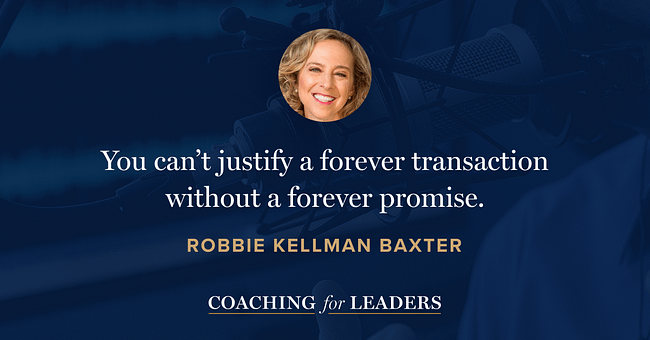 You can't justify a forever transaction without a forever promise.