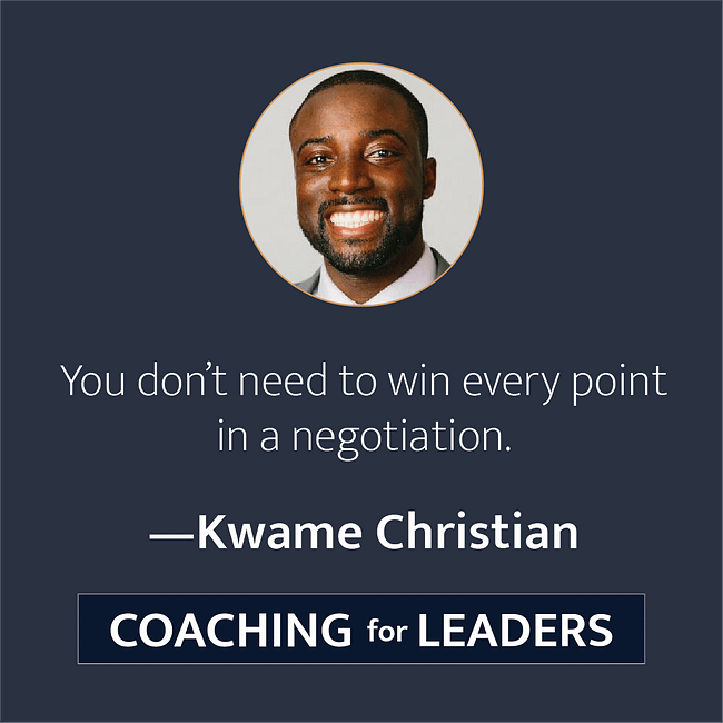 You don't need to win every point in a negotiation.