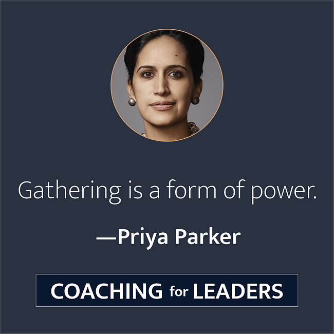 Gathering is a form of power.