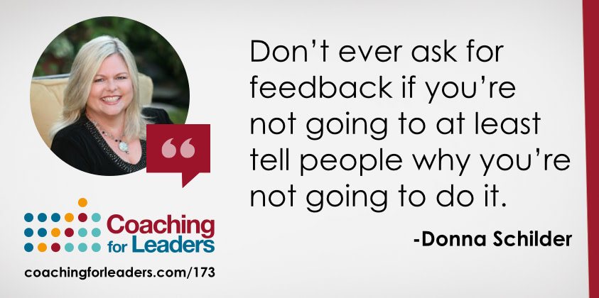 Don't ever ask for feedback if you're not going to at least tell people why you're not going to do it.