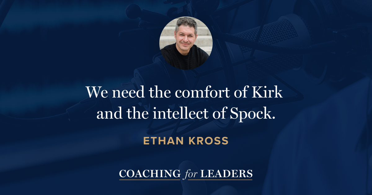 """We need the comfort of Kirk and the intellect of Spock."""