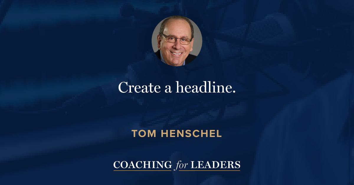 Create a headline.
