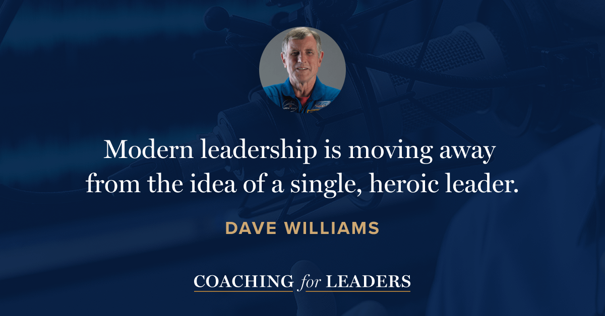Modern leadership is moving away from the idea of a single, heroic leader.