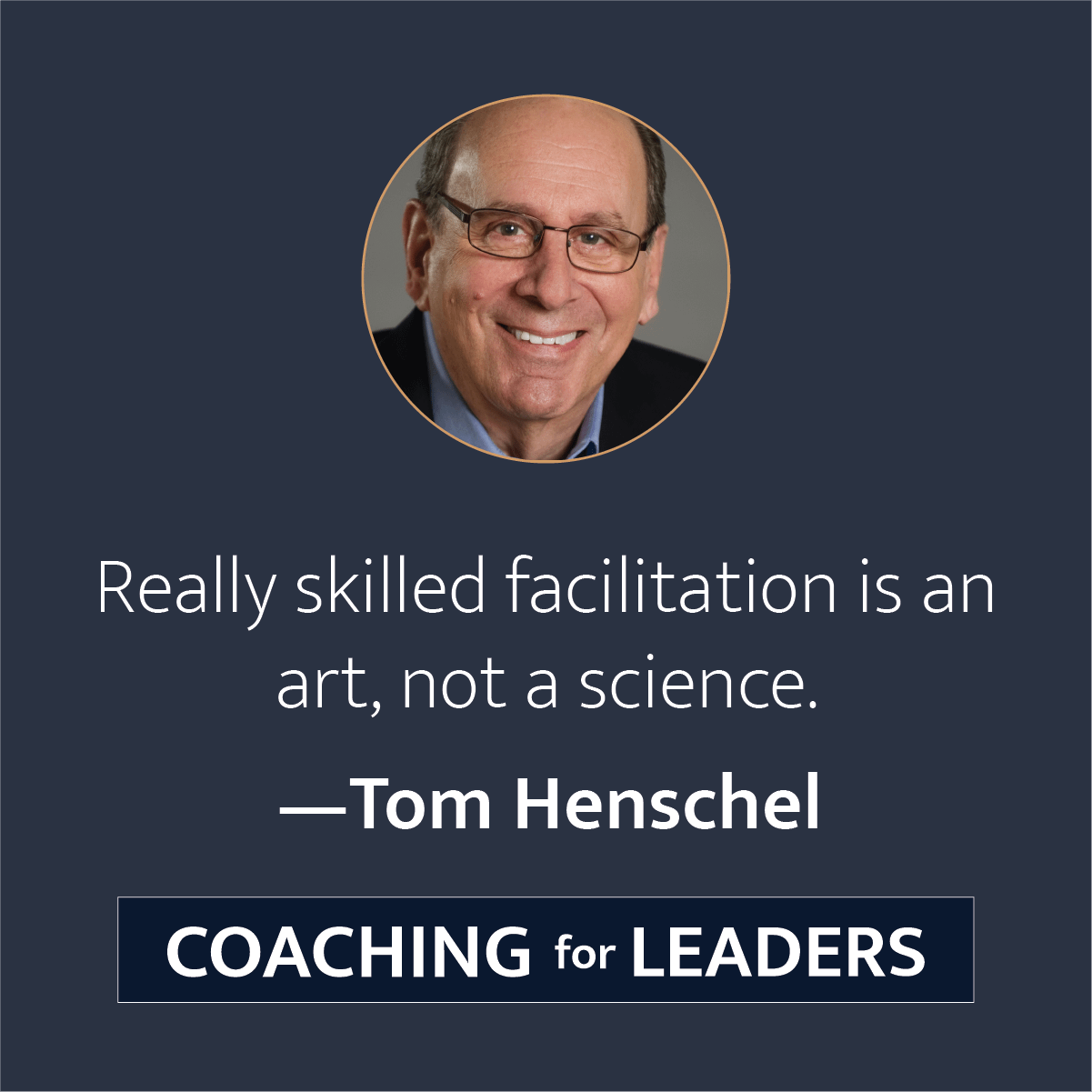 Really skilled facilitation is an art, not a science.