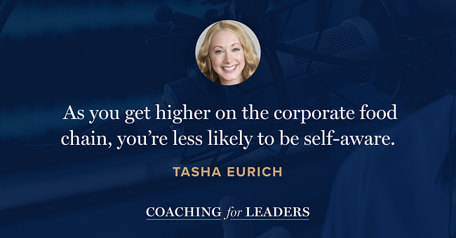 The higher up you are on the corporate food chain, the less likely you are to be self-aware.