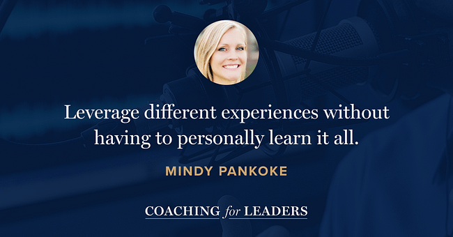 Leverage different experiences without having to personally learn it all.
