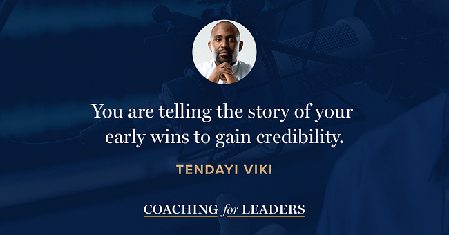 You are telling the story of your early wins to gain credibility.