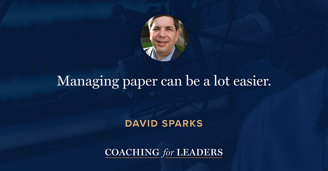Managing paper can be a lot easier.