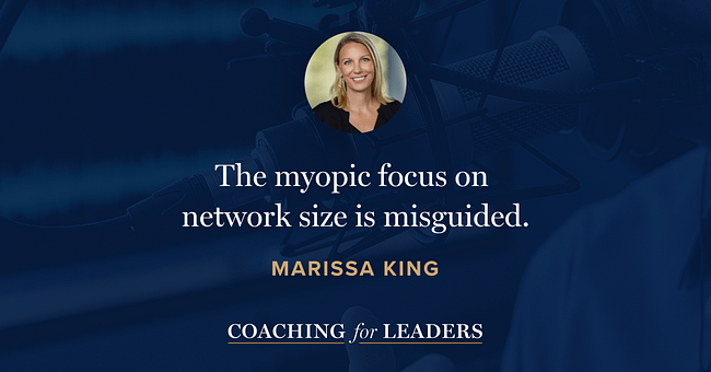 The myopic focus on network size is misguided.