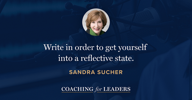 Write in order to get yourself into a reflective state.