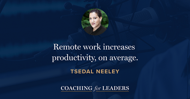 Remote work increases productivity, on average.