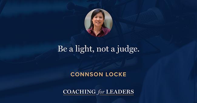 Be a light, not a judge.