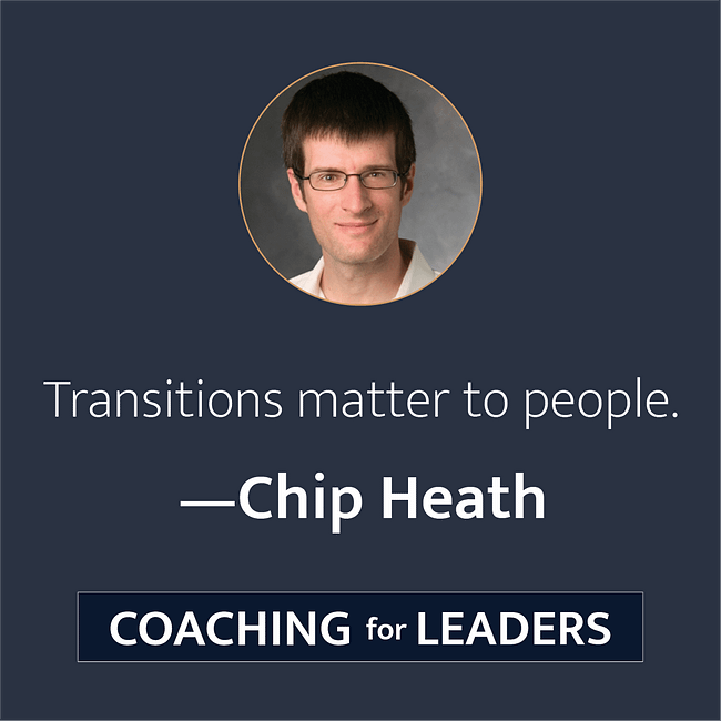 Transitions matter to people.
