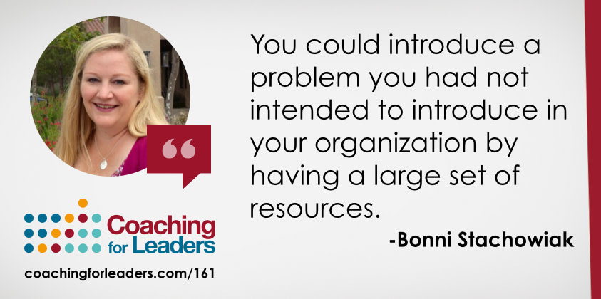 You could introduce a problem you had not intended to introduce in your organization by having a large set of resources.