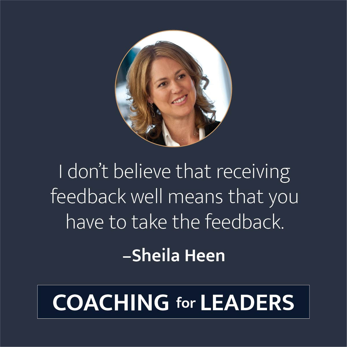 I don't believe that receiving feedback well means that you have to take the feedback.