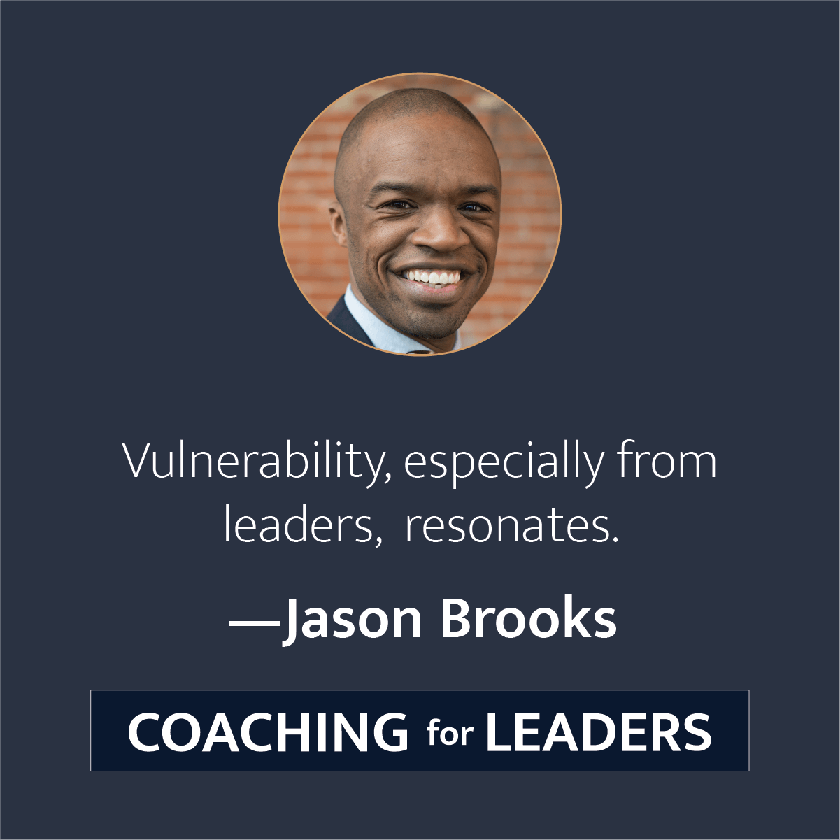 Vulnerability, especially in leaders, resonates.