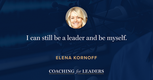 I can still be a leader and be myself.